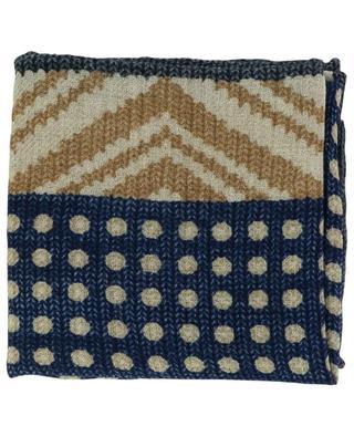 Wool flannel graphic print pocket square BRUNELLO CUCINELLI