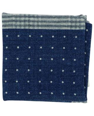 Wool flannel dotted pocket square BRUNELLO CUCINELLI