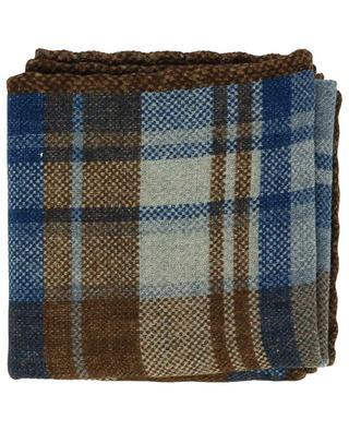 Pochette à carreaux en flanelle de laine BRUNELLO CUCINELLI