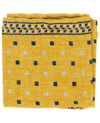 Silk graphic pocket square BRUNELLO CUCINELLI