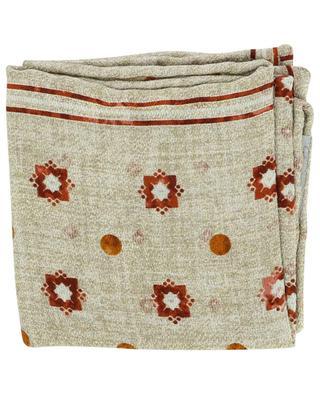 Silk graphic print pocket square BRUNELLO CUCINELLI