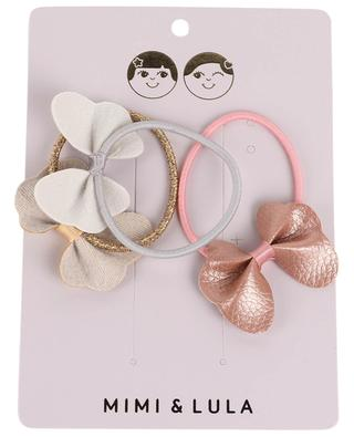Metallic Butterfly Ponies set of 3 rubber bands MIMI & LULA LIMITED