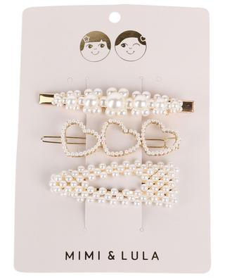Pearly Queen pack of three hairclips with pearls MIMI & LULA LIMITED
