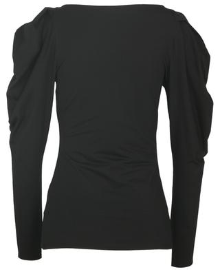 Top slim manches longues épaules bouffantes The new cool V-neck DOROTHEE SCHUMACHER