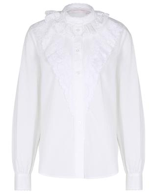 Flounced poplin shirt with openwork embroideries SEE BY CHLOE