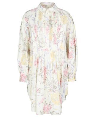 Spring Fruits short dress in printed ramie SEE BY CHLOE