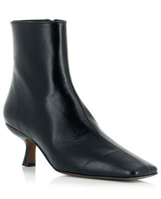 Stiefeletten aus schwarzem und plissiertem Leder Lange BY FAR