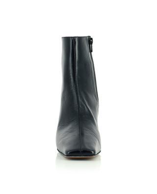 Bottines en cuir noir plissé Lange BY FAR