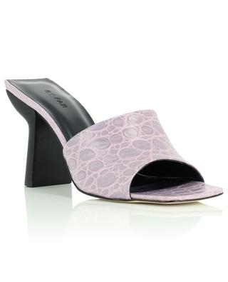 Liliana Lilac croco embossed leather mules BY FAR