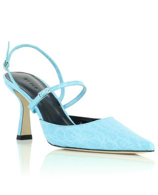 Pumps aus Leder in Kroko-Optik Tiffany BY FAR