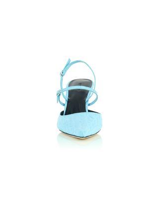 Escarpins pointus à talon cuir croco gaufré Tiffany BY FAR