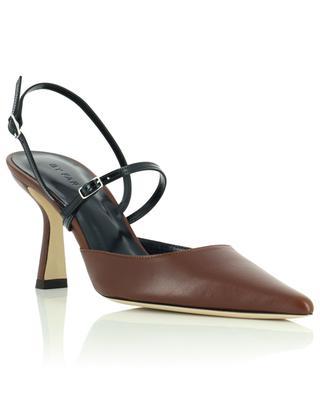 Escarpins pointus à talon cuir brun nappa Tiffany BY FAR