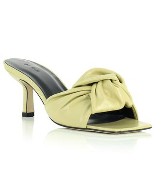 Lana yellow creased leather mules BY FAR