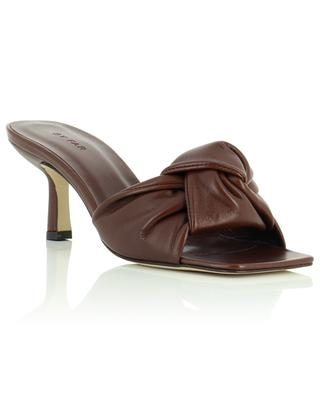 Lana Dark brown nappa leather mules BY FAR