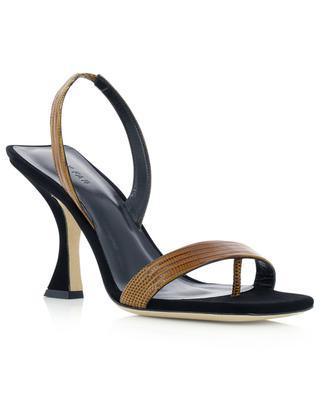 Lotta lizard embossed leather heel sandals BY FAR