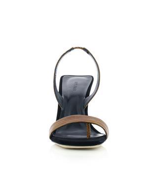 Sandales à talon en cuir lézard gaufré Lotta BY FAR
