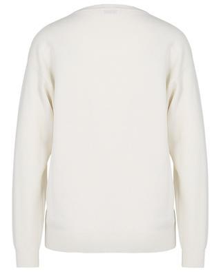 Monile embroidered crewneck cashmere jumper with pocket BRUNELLO CUCINELLI