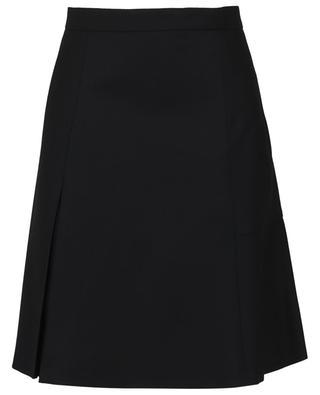Short wool twill skirt with pleat AKRIS PUNTO
