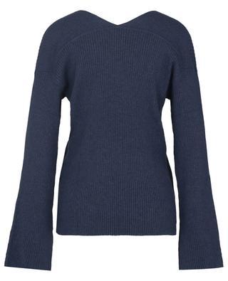 Kara V-neck rib knit jumper SKIN