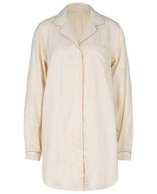 Cotton and wool flannel night shirt ZIMMERLI