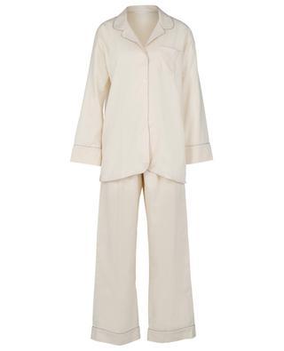 Pyjama en flanelle de coton et de laine ZIMMERLI