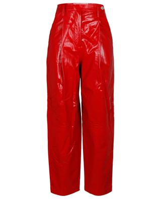 Cleo crinkle effect leather carrot trousers REMAIN BIRGER CHRISTENSEN