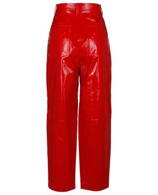 Pantalon carotte en cuir froissé Cleo REMAIN BIRGER CHRISTENSEN