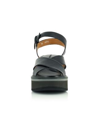 Sandales compensées avec brides en cuir de veau souple Charline CLERGERIE