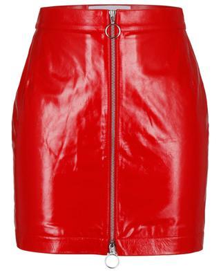 Minijupe en cuir rouge Lizzie REMAIN BIRGER CHRISTENSEN