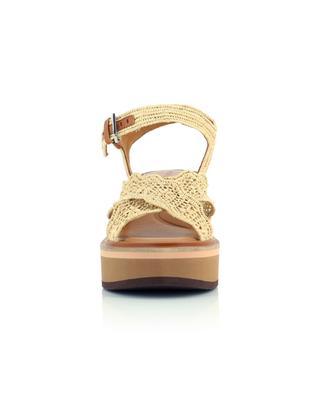 Sandales compensées avec brides en raphia Charlize CLERGERIE