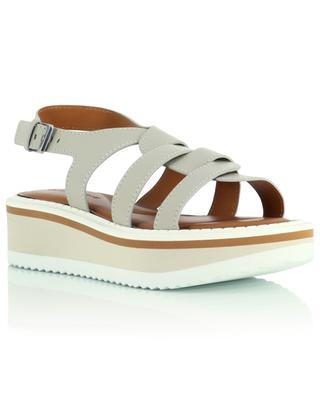 Sandales compensées à brides entremêlées Filoe CLERGERIE