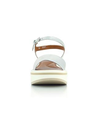 Sandales compensées en cuir d'agneau métalisé Fiona CLERGERIE