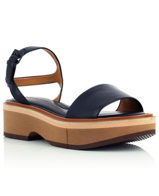 Sandales compensées en cuir d'agneau Fiona CLERGERIE