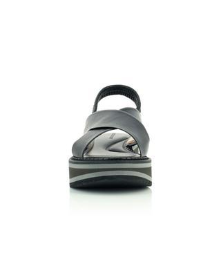 Sandales compensées noires à larges brides Freedom5 CLERGERIE
