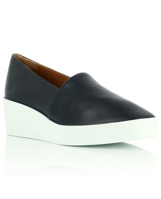 Lara lamb leather wedge loafers CLERGERIE