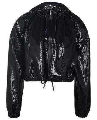 Maya cropped hooded snake skin effect leather jacket REMAIN BIRGER CHRISTENSEN