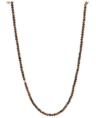 Sautoir en pierres brunes avec médailles MOON°C PARIS