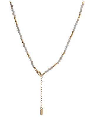 Collier ras du cou en labradorite et perles dorées MOON°C PARIS