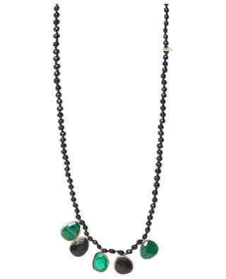 Perlenkette mit grossen Schmucksteinen MOON°C PARIS