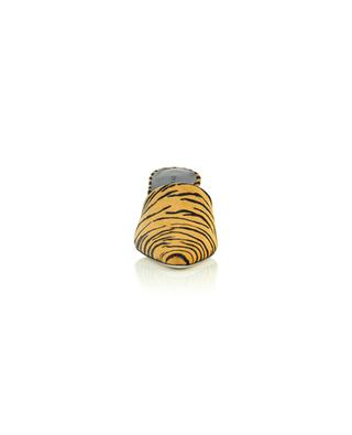Pantoletten aus Kalbshaar- Leder mit Tigerdruck BY FAR