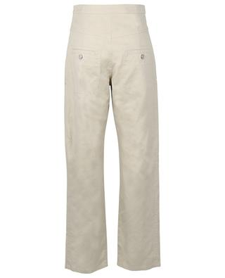 Phil cotton and linen high-rise trousers ISABEL MARANT