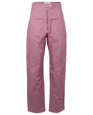 Pantalon taille haute en coton et lin Phil ISABEL MARANT