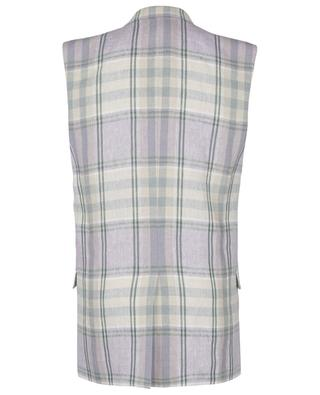 Ipegie checked sleeveless linen blazer ISABEL MARANT
