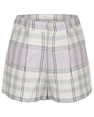 Ilabot checked linen shorts ISABEL MARANT