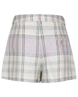 Ilabot checked linen shorts ISABEL MARANT