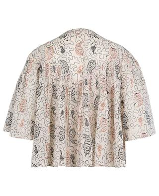 Algari shortened blouse printed cotton vei ISABEL MARANT ETOILE