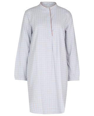 Chemise de nuit en coton à carreaux Quadrille LAURENCE TAVERNIER