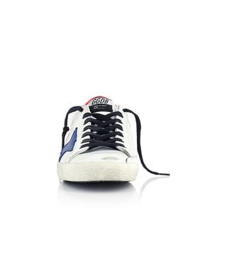 Weiss-rote Ledersneakers mit blauem Stern Super-Star Classic GOLDEN GOOSE