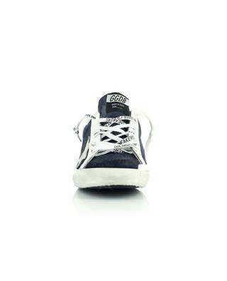 Sneakers aus marineblauem Wildleder mit grauem Stern Super-Star Classic GOLDEN GOOSE