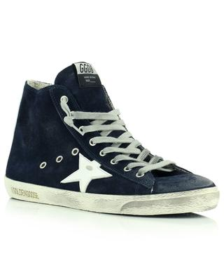 Francy Classic high-top black suede sneakers with white star GOLDEN GOOSE